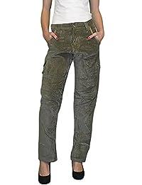 S&LU absolut angesagte Damen-Boyfriend-Samt-Hose mit tollen Details und toller Optik in verschiedenen Größen