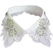 Moda falsa blusa desmontable collar para mujer / elegante con diamantes de imitación - A9