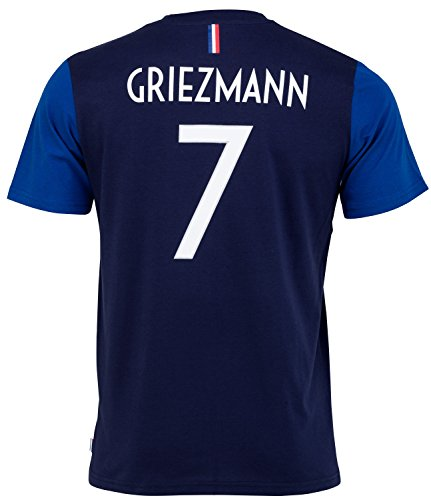 Equipe de FRANCE de football T-Shirt FFF - Antoine Griezmann - Collection Officielle Taille Enfant Garçon 8 Ans