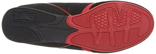 Lonsdale Mitchum M, Baskets mode homme Noir (Black/Red)