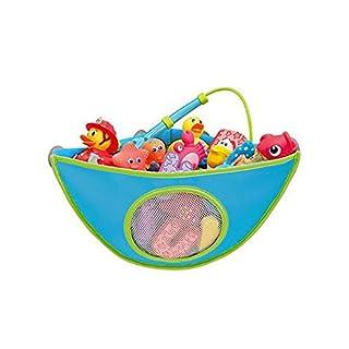 ANDAY Baby Bath Toys Organizer Corner Pouch Basket Children Triangle Storage Net Blue