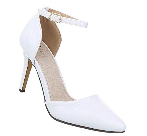 Damen Schuhe Pumps High Heels Weiß 36