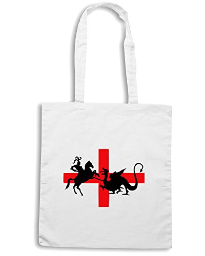 T-Shirtshock - Borsa Shopping TSTEM0092 st georges day Bianco