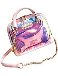 SimpleLife Frauen Handtasche Schultertasche, Holographische Transparente Kleine PVC Crossbody Satchel Umhängetasche Geldbörse