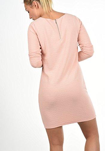 JACQUELINE de YONG by ONLY Greti Damen Kleid Sweat-Dress Langarmkleid mit Rundhals-Ausschnitt aus hochwertiger Materialqualität Rose Smoke
