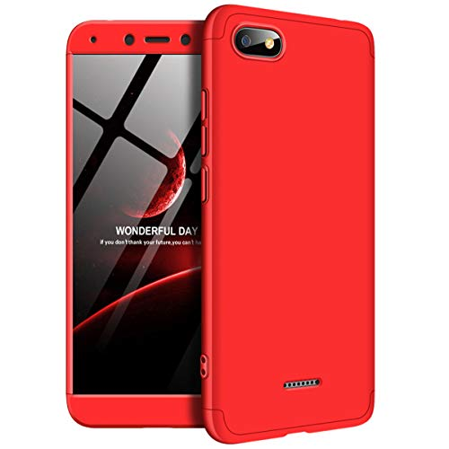 Funda Xiaomi Redmi 6 A, Carcasa la Cubierta Anti Arañazos y Anti-Choque, de Alta Dureza, Ultra - Delgado, Peso Ligero teléfono Case para Redmi 6 A (Redmi 6 A, Rojo)