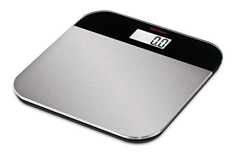 Soehnle Elegance Steel - Báscula de baño (LCD, Negro, Plata, 31 cm, 31 cm, 1,8 cm, Vidrio, De plástico, Acero inoxidable)