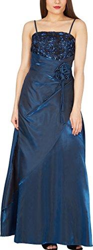 Black Butterfly 'Belle' Satin Bliss Ballkleid (Blau, EUR 42 - L) (Kleid Satin Langes)