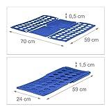 Relaxdays Faltbrett für Wäsche HBT ca. 0,5 x 70,5 x 59 cm mit Falt Butler Kleidung auf DIN A4 falten große Falthilfe platzsparender Wäschefalter Hemdenfalter, blau - 2