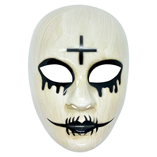 HOMELEX Unisex The Purge Anarchy Halloween Kreuz Maske Horror Killer Party Kostüm (+)