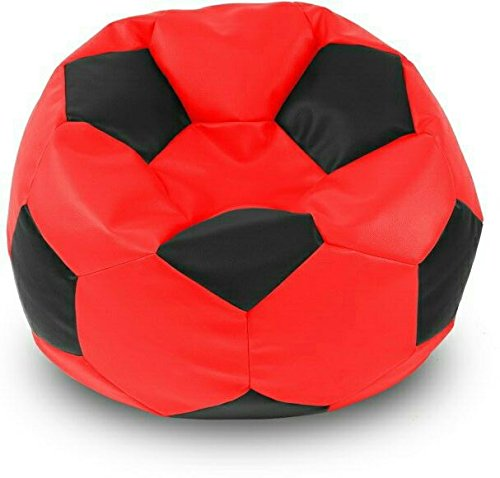 Sultaan Rexine Leather Football Black & Red Bean Bag Cover Without Filler  available at amazon for Rs.399