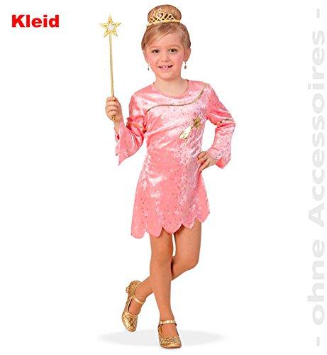 Fries 1919 Sternenfee Kleid rosa Mädchen Kostüm Fee Fasching Karneval Verkleiden: Größe: 104 (Feuer Fee Kostüm)