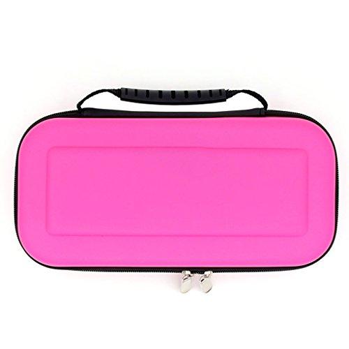 feamos Hard Carrying Case für Nintendo Schalter Konsole mit Griff EVA Aufbewahrungstasche für Reisen Geschenk (hell rosa)