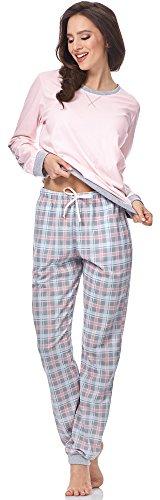 Cornette Damen Schlafanzug 634 2016 Rosa-07 (Meggie)