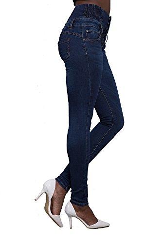LustyChic -  Jeans  - Donna Dark Blue High Waist
