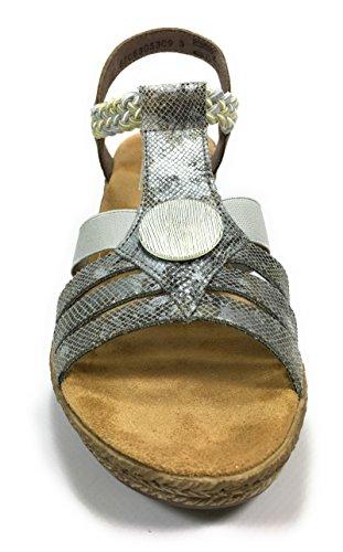 Rieker - V2441 - Sandales - Femme - Semelle Amovible : Non - Gris Gris