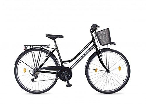 Frank Bikes 28 Zoll Damen Fahrrad City Bike Rad CITYFAHRRAD DAMENFAHRRAD CITYRAD DAMENRAD Shimano 21 Gang Fantasia Schwarz Black Lady