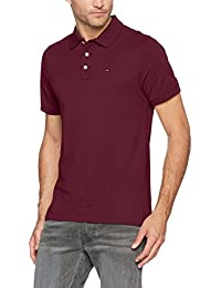 Hilfiger Denim Tjm Basic S/S 1, Polo Homme, Rouge (Windsor Wine 674), X-Small