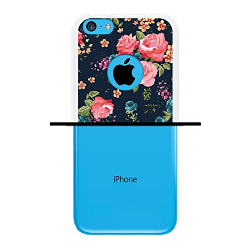 iPhone 5C Hülle, WoowCase Handyhülle Silikon für [ iPhone 5C ] Mondrian Stil Rechtecke Handytasche Handy Cover Case Schutzhülle Flexible TPU - Rosa Housse Gel iPhone 5C Transparent D0556