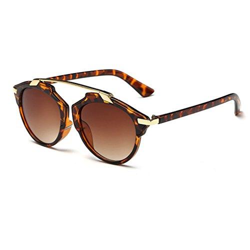 QHGstore Marco de las mujeres de los hombres gafas de sol al aire libre Vintage Eyewear de plástico #2