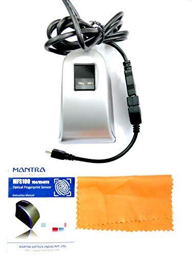 MANTRA MFS100 v54 OTG with RD Service 1 Year (Black)
