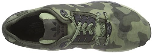 adidas ZX Flux Decon, Scarpe Sportive, Uomo Grün (St Tent Green S14/Night Cargo F14-St/Core Black)