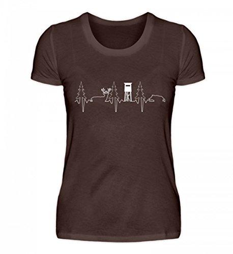 Shirtee Hochwertiges Damen Premiumshirt - Jäger Shirt · Jagd · Jägerin · Jagen · Förster · Wald · Hochsitz · Jagdhund · Wildschwein · Reh · Spruch · Pulli · Jacke · Hoodie · T-Shirt · Geschenk