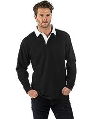 Bruntwood Prima Manga Larga Camisa de Rugby - Premium Long Sleeve Rugby Shirt - Hombres y Señoras - 280GSM - Algodón / Poliéster