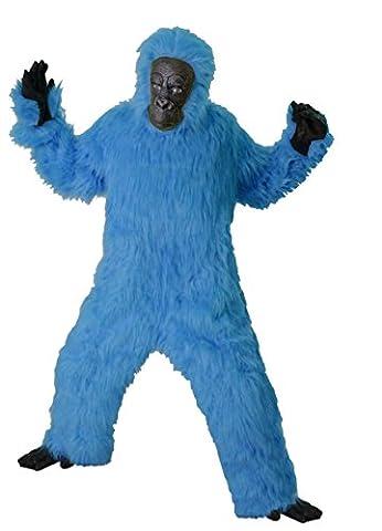 Foxxeo 40003   Deluxe Gorilla Kostüm blau Affenkostüm, Größe:XL (Deluxe Gorilla-kostüm)