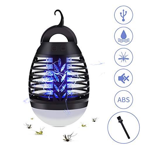 2 in 1 Lampada Anti Zanzara, USB Repellente per zanzare Lampada con lampada da Campeggio,Impermeabile IP67,3 Luminosità di Luce,Adatto per uso Interno ed caccia, campeggio, pesca(nero)