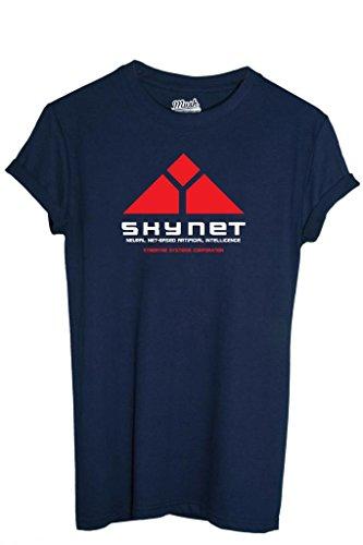 T-Shirt SKYNET TERMINATOR - FILM by MUSH Dress Your Style - Uomo-L-BLU NAVY