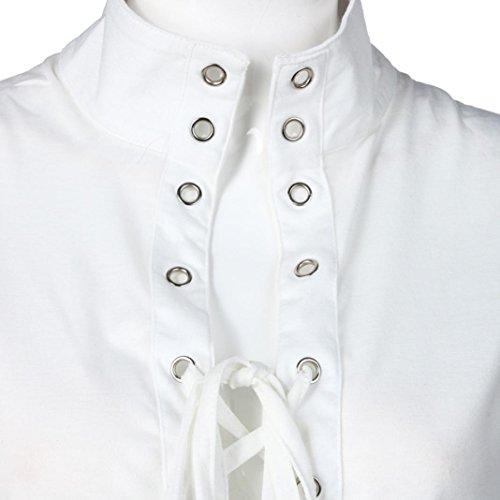 Reasoncool Le donne sexy senza maniche a collo alto Vestito aderente del partito del randello Bianco