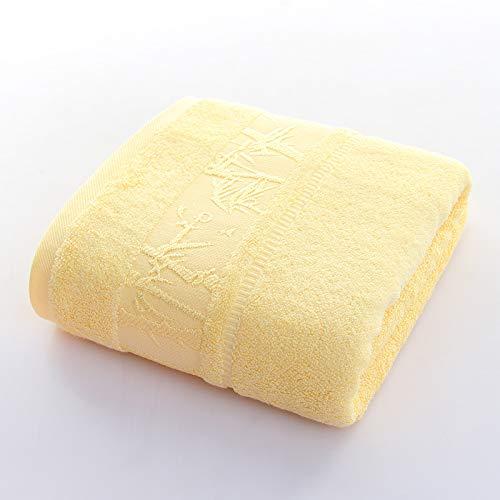 Wusofa Bambusfaser-Badetuch Tampon 140 x 70 cm großes Badetuch Plus Dickes einfarbiges Badetuch aus Bambuskohle 140 x 70 cm A -