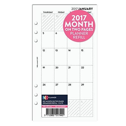 2017mois-sur-deux-pages-planner-recharge-insert-english-filofax-personal-compatible-blanc