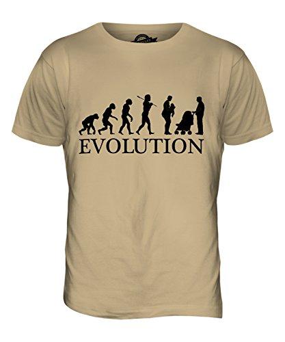 CandyMix Neue Mutter Evolution Des Menschen Herren T Shirt Sand