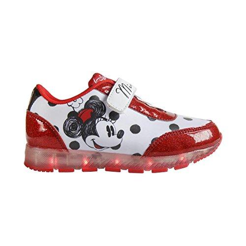 Disney Minnie 2200-2645 Mädchen Sneaker, Flashing Schuhe, mehrfarbig ()