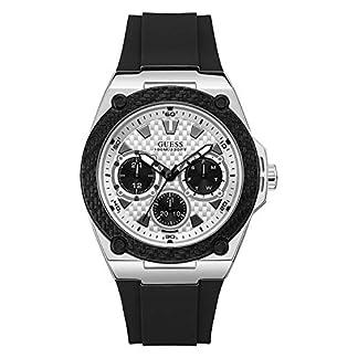 Guess Reloj Analógico para Hombre de Cuarzo con Correa en Caucho W1049G3