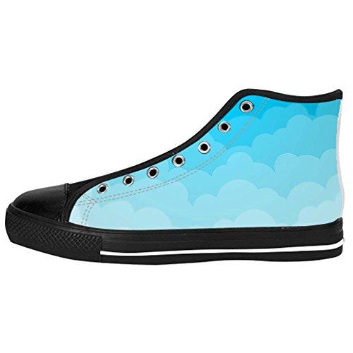 Dalliy Blue Clouds Women's Canvas Shoes Lace-up High-top Footwear Sneakers Chaussures de toile Baskets A