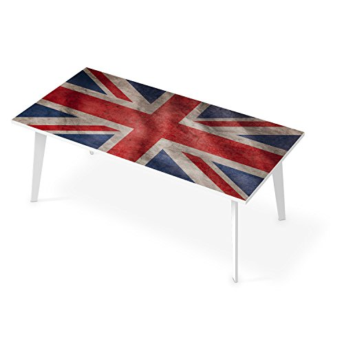 creatisto Film amovible décoratif TABLE | Mosaique murale - Décorer plateau de TABLE BASSE | Design Union Jack | 200x100 cm