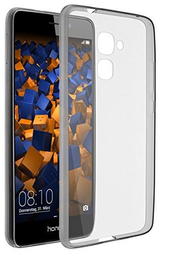 mumbi UltraSlim Hülle für Huawei Honor 5C Schutzhülle transparent schwarz (Ultra Slim - 0.55 mm)