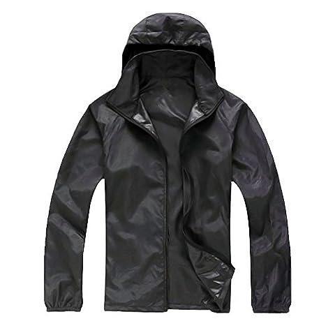 Manteau Brillant - Uskincare Veste De Sport Léger à Capuche
