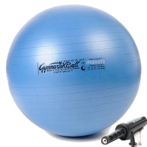Original Pezzi Gymnastik Ball Maxafe 75cm +Pumpe PLUS Sitz Therapie Pilates blau