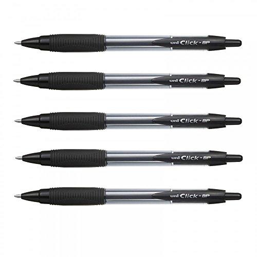 uni-ball-click-bp-retractable-ballpoint-pens-pack-of-5-black-ink