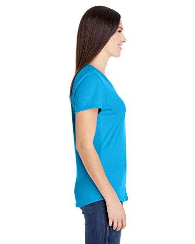Anvil - T-shirt - Femme Heather Caribbean Blue
