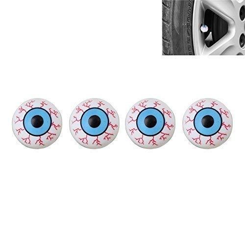 Bouchons de Valve pour Voiture Voitures Voiture Camion Moto 4 Pièces Yeux Bleus Yeux