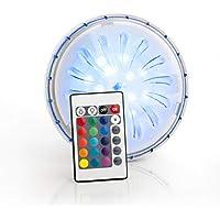 Gre PLED1C - Proyector Led Color para Piscina Elevada de Acero, 1,8 W