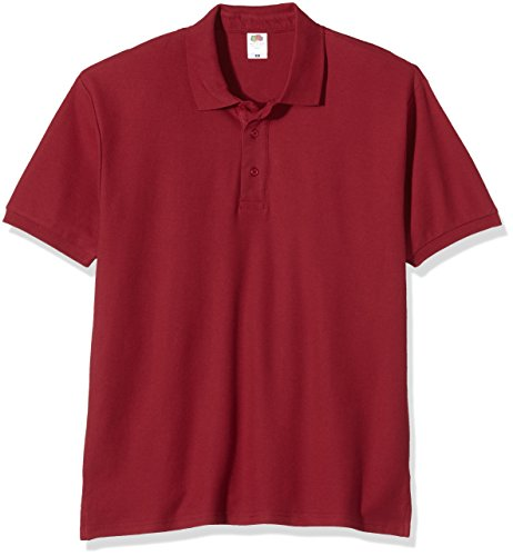 Fruit of the Loom Herren Poloshirt burgunderfarben