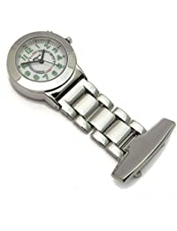 Nurses Chrome Tunic Brooch Fob Watch With Backlight Function