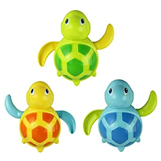 Amison 1 PC New Born Babies Swim Turtle Wound-up Chain Small Animal Bath Toy
