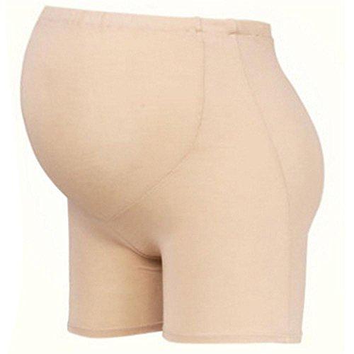 Glield Umstandsslip mit langen Beinen, Umstandsunterwäsche-Modal Baumwolle YFK03 (L, Haut)